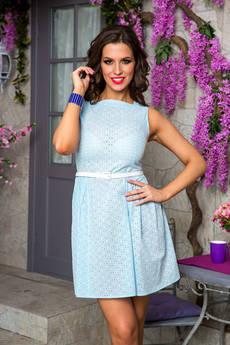 Голубое летнее платье Angela Ricci со скидкой